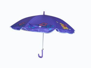 Printed Design Kids Umbrella with Flag Like Beach Umbrella (CU009) pictures & photos