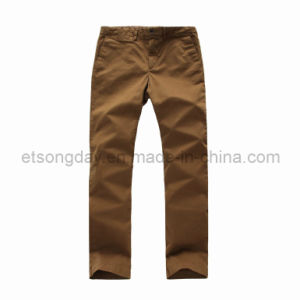 Dark coffee Cotton Spandex Men′s Trousers (HC-1304) pictures & photos
