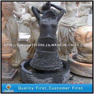 Shanxi Black/Absolute Black Granite Statue, Granite Sculpture, Stone Garden Statue pictures & photos