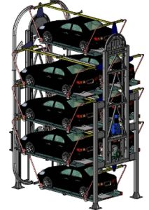 Vertical Circulating Car Parking System for 8-12 Cars