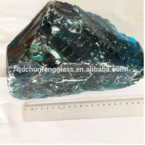 Top Quality Nature Blue Large Slag Glass Rocks pictures & photos