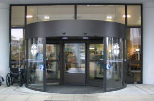 Low Price Automatic Revolving Glass Door (DS-R2) pictures & photos