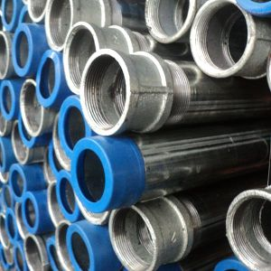 Threaded Ends Hot DIP Galvanized Water Pipe with Socket and Plastic Cap pictures & photos