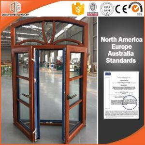 European and America Style Casement Aluminium Wood Window with Grille pictures & photos
