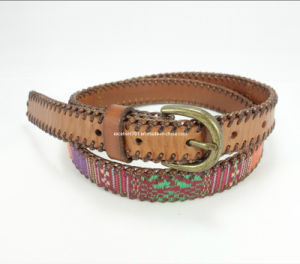 Skinny Lady Braided Leather Waist Belt