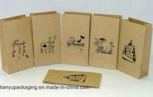 White Kraft Square Bottom Paper Shopping Bag/Christmas Bag pictures & photos