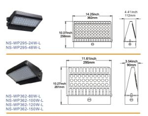 UL Dlc Listed IP65 Outdoor 120W Wall Pack LED Lighting pictures & photos