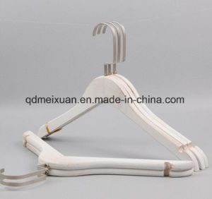 Old White Real Wood Hangers Women′s Clothes Hanging Clothing Store Can Be Customized Logo Clothing (M-X3545) pictures & photos