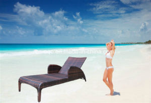Hotel Swimming Pool Furniture Rattan Sun Bed (T522) pictures & photos