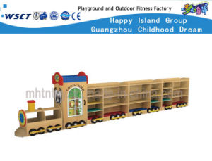 School Cartoon Cars Wooden Cabinet for Kids Wooden Role Play M11-08403 pictures & photos