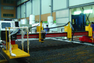 Chinese Gantry Type CNC Cutting Machine with Plasma Cutting Torch pictures & photos