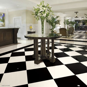 Pure White Polished Artificial Marble Living Room Floor Tile pictures & photos