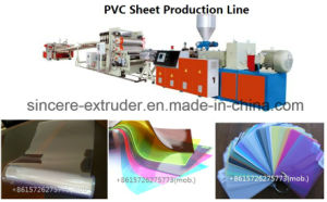 PVC Solid Sheet Extrusion Machinery Plastic Production Machine with PVC Twin Screw Extruder pictures & photos