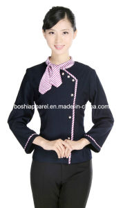 Graceful Fashionable Hotel Uniforms for Women Hu-33 pictures & photos