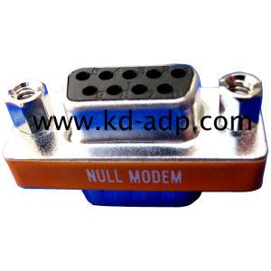 Slimline Null Modem Adapter, dB9 Male / Female