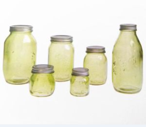 Glass Mason Jar Food Canning/Canned Packaging/Preserving Glass Jar for Jam Honey Juice Pickle with Metal Lid pictures & photos