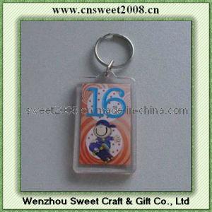 Custom Printing Acrylic Key Ring (KYC23052) pictures & photos