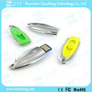 Oval Shape Sliding USB Flash Drive with Logo (ZYF1706)