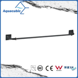 Modern Wall Mount Black Single Towel Bar (AA6314) pictures & photos