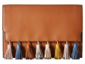 Candy Color Fashionable PU Promotion Gift Bag Tassel Evening Bag pictures & photos
