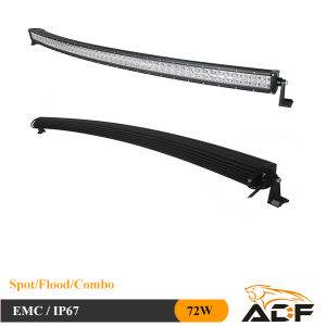 Epistar 72W Curved Offroad LED Light Bar LED Car Light for ATV, SUV, Trucks, 4X4