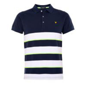 Fashion Nice Cotton/Polyester Printed Striped Polo Shirt (P056) pictures & photos