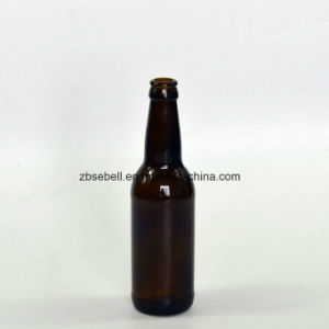 330ml Amber Glass Bottle with Crown Top for Beer (NA-029) pictures & photos