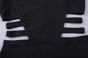 Black Women Casual Bandage Sleeveless Dresses pictures & photos