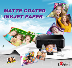 Fast Dry Suitable for Dye Ink and Pigment Ink Single Sided Matte Inkjet Paper pictures & photos