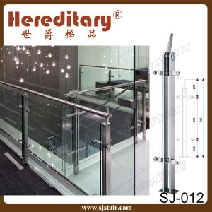 Stair Railing Glass Balustrade with Stainless Steel Handrail (SJ-016) pictures & photos