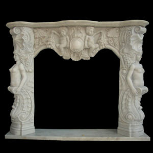 Sculpture Carving Marble Mantle Fireplace pictures & photos