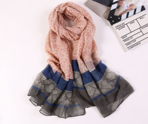 Digital Printed Cotton Voile Pashmina Lady Fashion Scarf