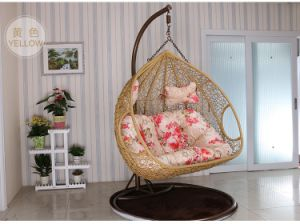 Double Seat Cane Swing Chair pictures & photos