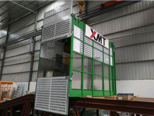 Single /Twin Cages Super Height Material and Passenger Construction Elevator pictures & photos