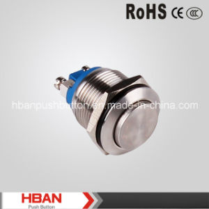 Hban CE RoHS (19mm) High Momentary Waterproof Push Button pictures & photos