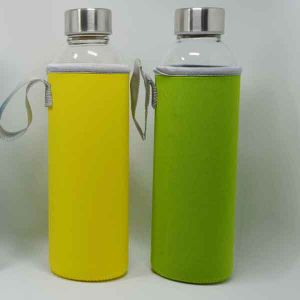 BPA Free Wholesale Glass Water Bottle with Sleeve Dn-165 pictures & photos