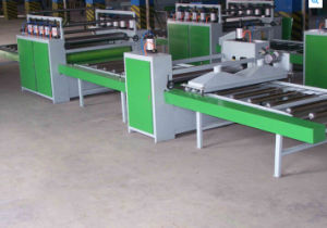 Woodworking Semi-Automatic Paper Sticking Line pictures & photos