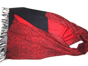 100% Cashmere Ab Paisly Lace Printed pictures & photos