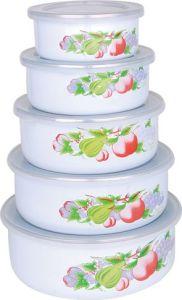 5PCS Enamel Storage Bowl Set 10-18cm pictures & photos