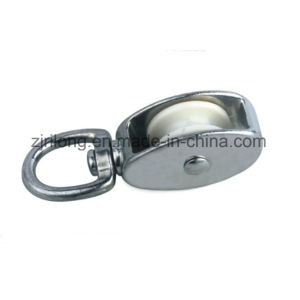 Swivel Eye Zinc Alloy Pulley with One Single Wheel Dr-505z pictures & photos