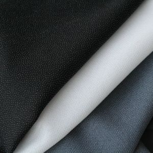 57GSM 100% Polyester Double-DOT Interlining (Suitable for Over Coat Twill Weave) (75075(75D*75D))