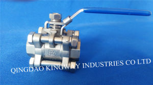 Stainless Steel 3-PC Threaded Ball Valve with High Pressure 1000psi/Pn63 pictures & photos