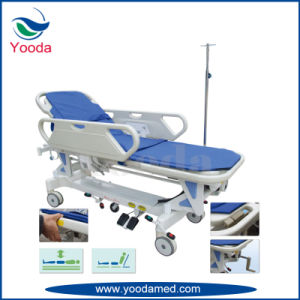 Electric Height Adjustable Hospital Transfer Stretcher pictures & photos