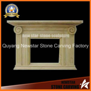 Stone Fireplace Mantel Limestone Fireplace Surround Sandstone Fireplace pictures & photos