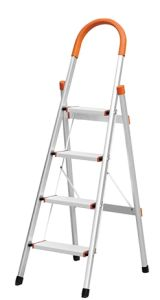 4 Step Aluminum Folding Household Ladder with En 131 Approvel pictures & photos