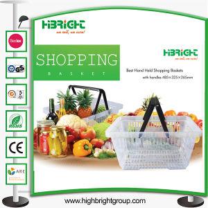 Transparent Color Plastic Shopping Basket pictures & photos