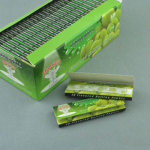 Hornet Green Apple 78mm 50booklets Handroll Flavored Rolling Papers (ES-RP-031) pictures & photos