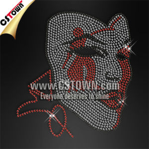 Delta Sigma Theta Lady Mask Customized Iron on Rhinestone Transfer (MSK-005)