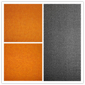 Wool Nylon Twill Plain Dyd Peach Fabric pictures & photos