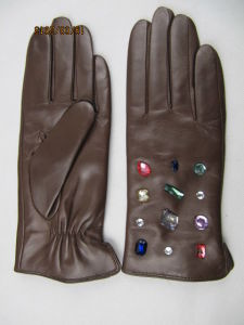 Lady Fashion Leather Gloves (JYG-24015) pictures & photos